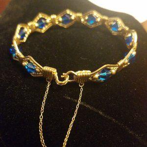Gold filled blue gemstone Bracelet
